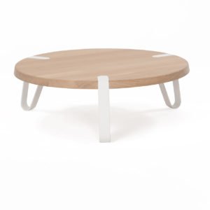 Level salontafel Ø 70 cm wit