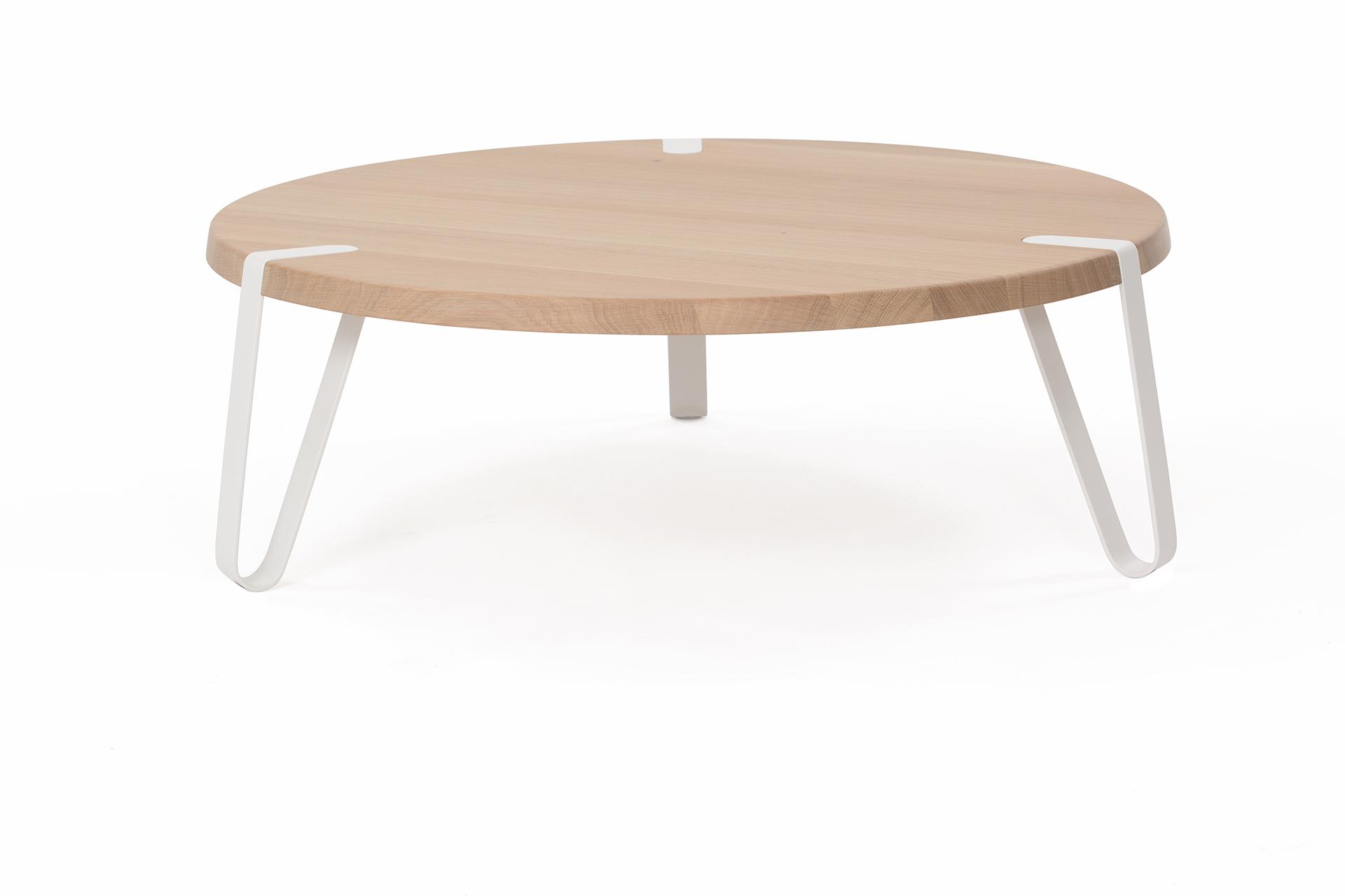 Level salontafel Ø 90 cm wit