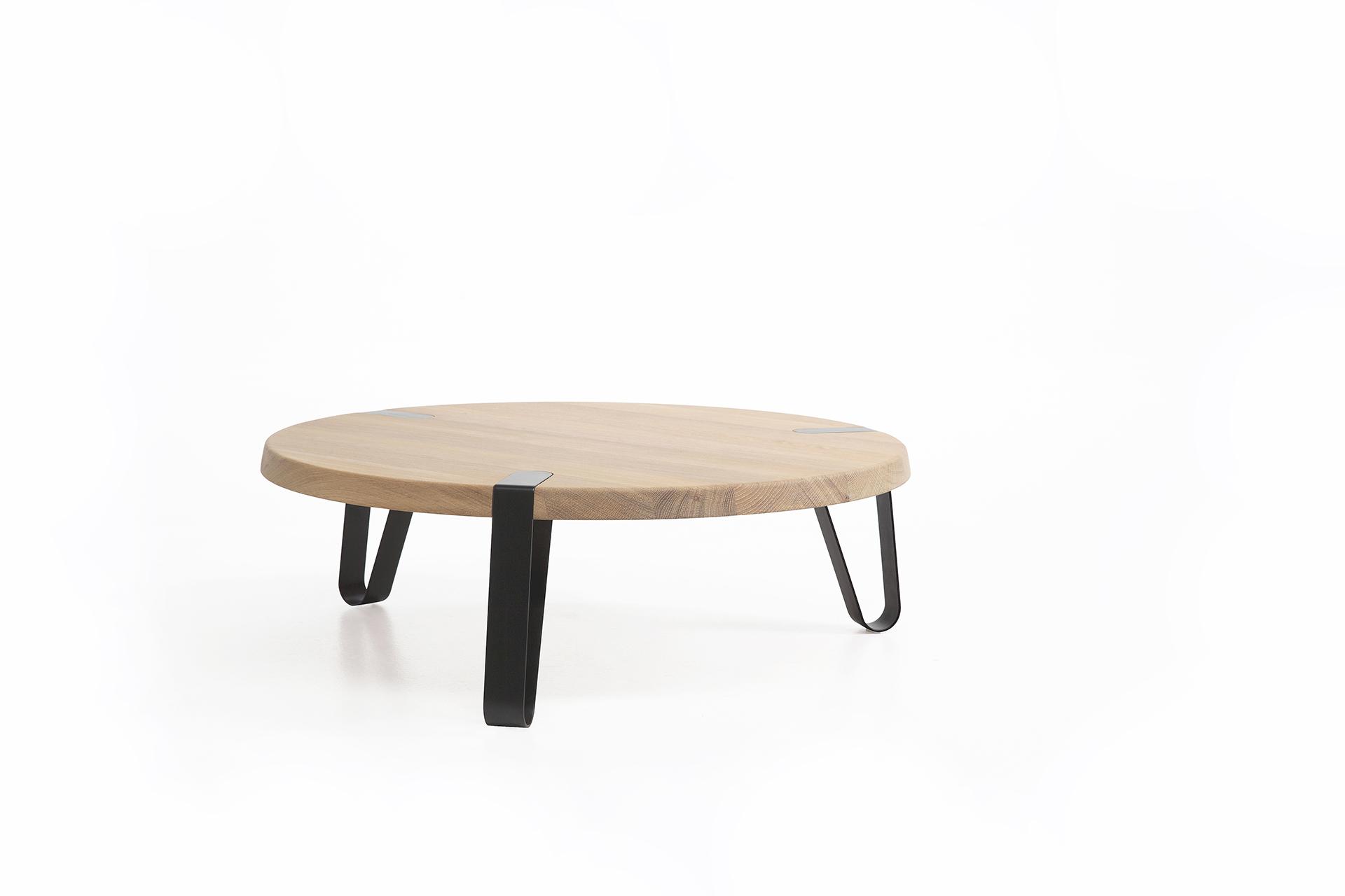 White Oak Salontafel.Level Round Design Coffeetable L Erik Remmers L Odesi Your Dutch Design