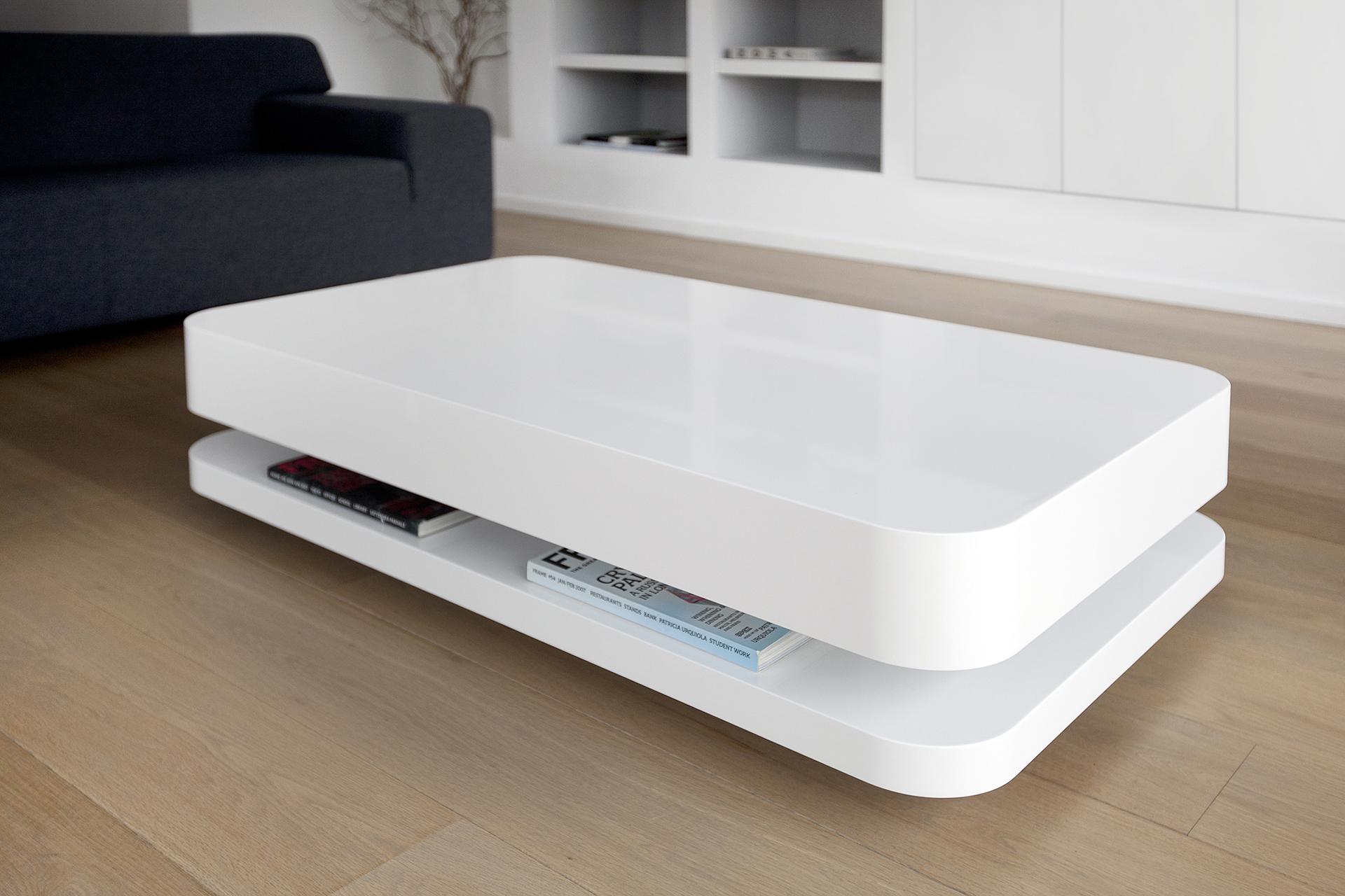 Moderne Salontafel Mat Wit.Rknl20 Design Coffee Table White L Ronald Knol L Odesi Your Dutch