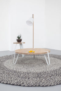 Salontafel en bijzettafel hout design