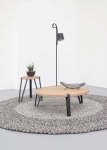 Bijzettafel en salontafel hout design